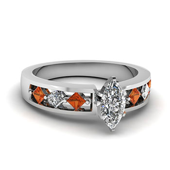 0.75 Ct. Marquise Cut Women Diamond Ring