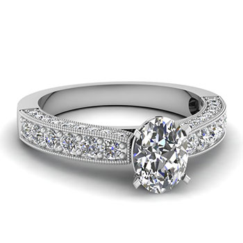1 Carat Oval Shaped Diamond Ring