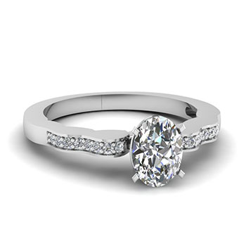 1/2 Carat Oval Shaped Diamond Ring For Her