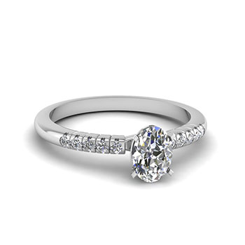 Women Engagement Ring 0.50 Ct. Oval Diamond