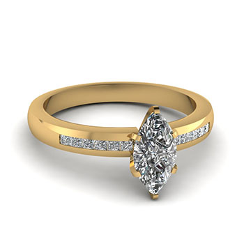 0.50 Carat Marquise Cut Diamond Engagement Ring