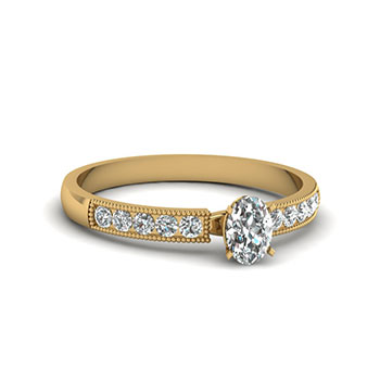 1/2 Carat Oval Cut Women Diamond Engagement Ring