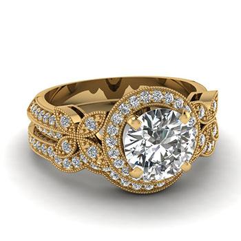 1 Carat Round Cut Diamond Ring