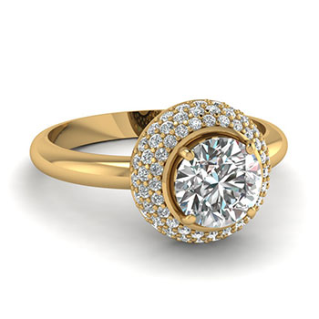 1 Carat Round Cut Diamond Ring For Her