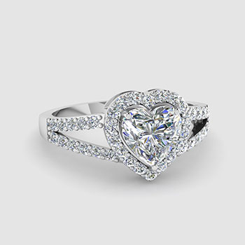 heart shaped halo engagement rings - Heart Shaped Wedding Rings