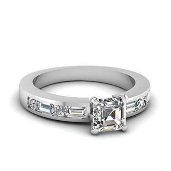 1 Carat Asscher Cut Diamond Ring