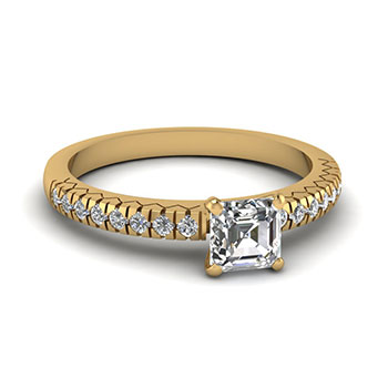 0.50 Carat Asscher Cut Diamond Engagement Ring