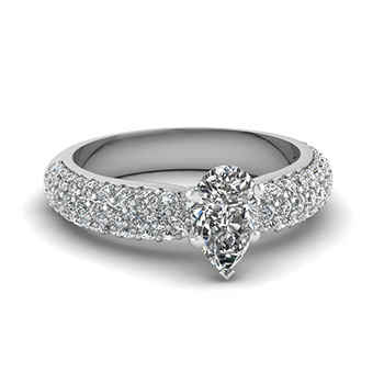 3/4 Carat Pear Shaped Ring