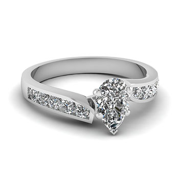 Pear Shaped 0.50 Ct. Diamond Rings