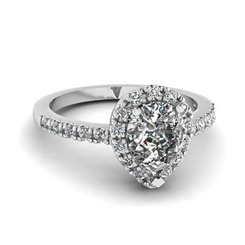 0.75 Ct. Pear Shaped Diamond Engagement Ring