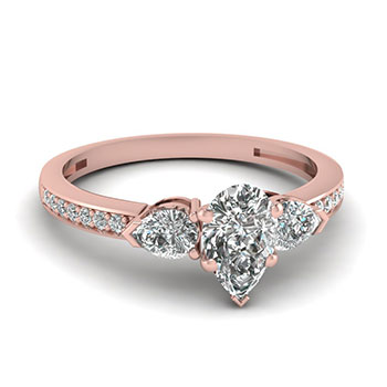 0.75 Carat Pear Shaped Diamond Engagement Ring