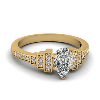 0.50 Ct. Pear Shaped Diamond Women Engagement Ring