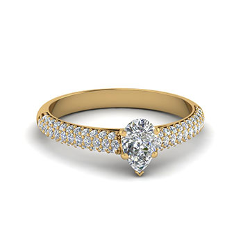 0.75 Carat Pear Shaped Diamond Engagement Ring For Her