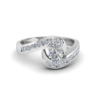 Women Engagement Ring 0.75 Ct. Pear Shaped Diamond