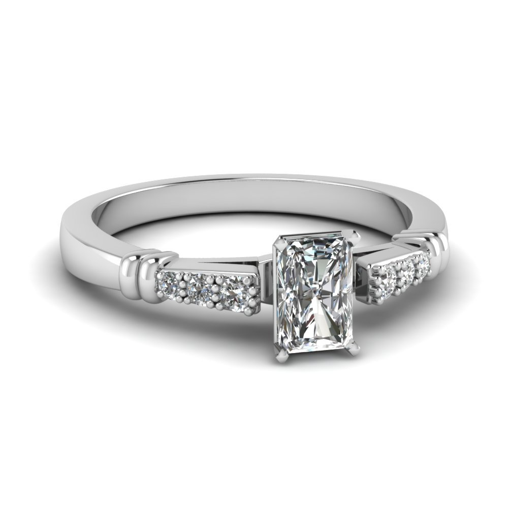 1/2 Ct. Radiant Cut Diamond Ring For Her