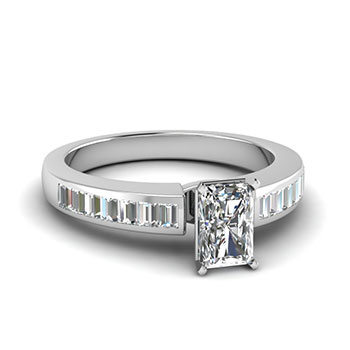 3/4 Carat Radiant Cut Diamond Engagement Ring
