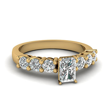 3/4 Carat Radiant Diamond Engagement Ring