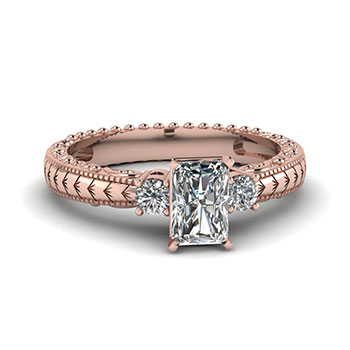 0.50 Carat Radiant Cut Diamond Engagement Ring