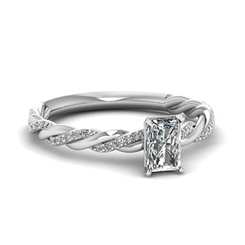 1/2 Carat Radiant Cut Diamond Engagement Ring