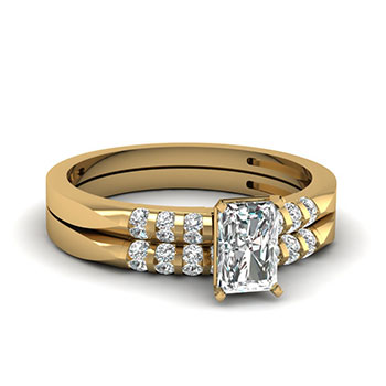 0.50 Ct. Bridal Ring Set Radiant Cut Diamond