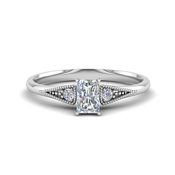 Radiant Cut 0.50 Ct Diamond Ring For Ladies