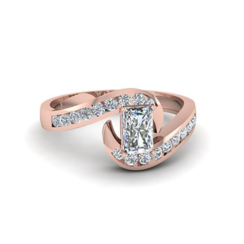 0.75 Ct. Radiant Cut Diamond Ring For Her