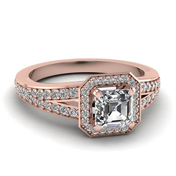 0.75 Ct. Asscher Cut Diamond Women Engagement Ring