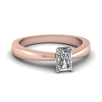 1/2 Ct. Radiant Cut Diamond Engagement Ring For Her