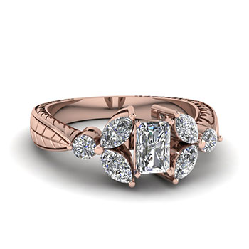 Radiant Cut Ring 3/4 Carat