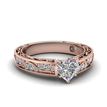 1 Carat Heart Shaped Diamond Ring For Her