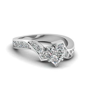 1 Carat Heart Shaped Diamond Engagement Ring For Her