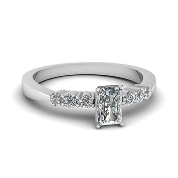 1/2 Ct.Radiant Cut Diamond Engagement Ring For Her