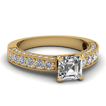 Asscher Cut 3/4 Carat Ring