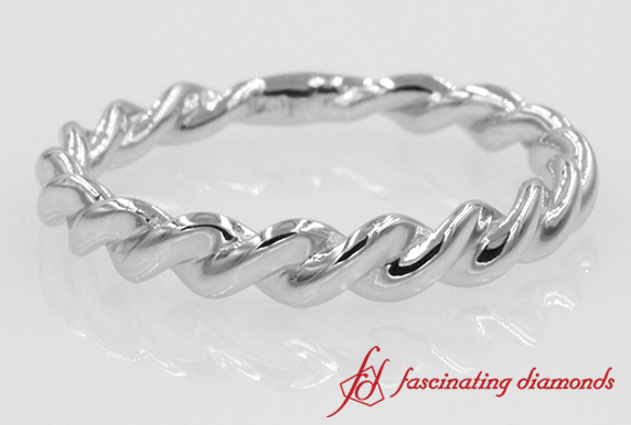 Rope Design Wedding Band