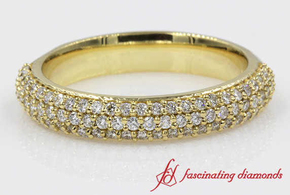 Pave Multi Row Diamond Band