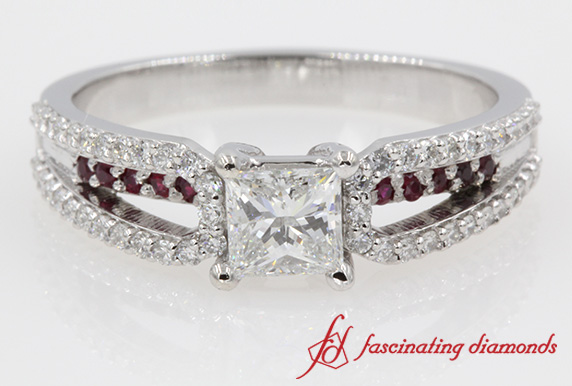 Accent Engagement Ring
