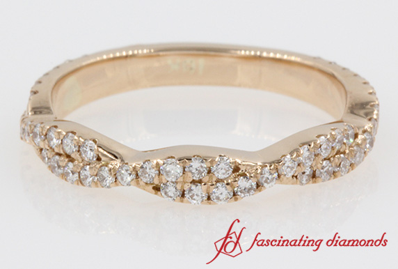 Infinity Twist Wedding Band