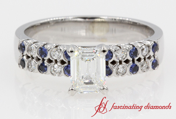 Sapphire Wide 2 Row Ring