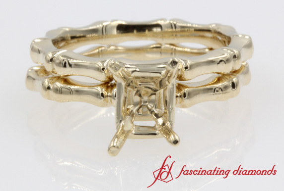 Bone Design Wedding Ring Setting