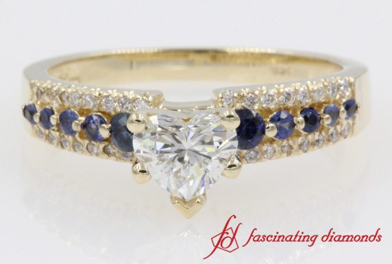 3 Row Wide Engagement Ring