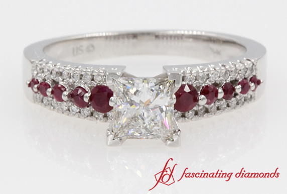 Triple Row Engagement Ring