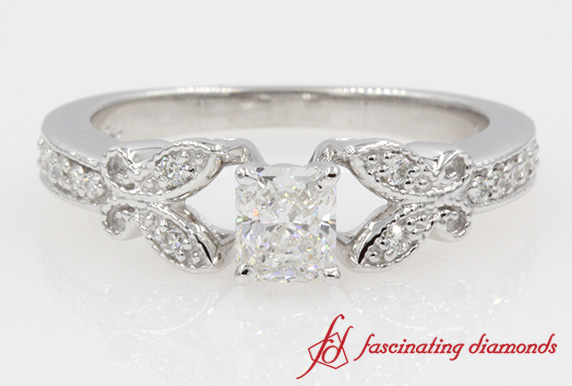 Radiant Cut Diamond Butterfly Ring