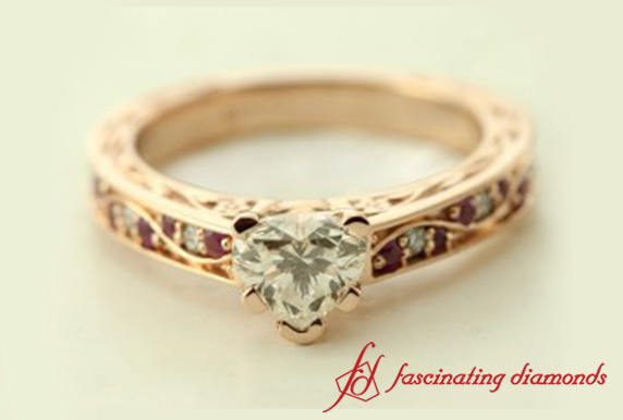 18k Rose Gold Vintage Filigree Ring