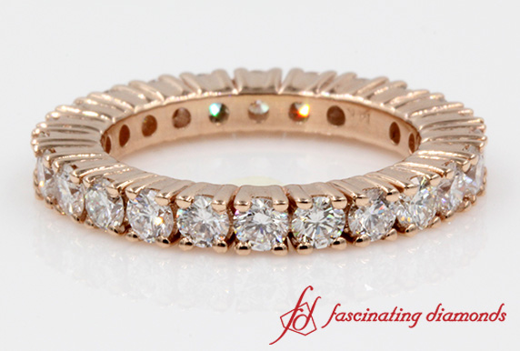 Round Diamond Eternity Band For Her
