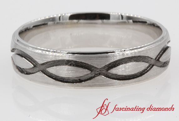 Engraved Infinity Design Band