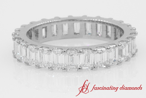 Channel Emerald Cut Eternity Band