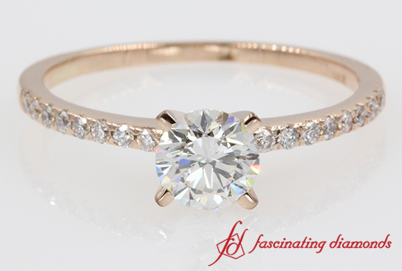 Delicate Round Diamond Ring