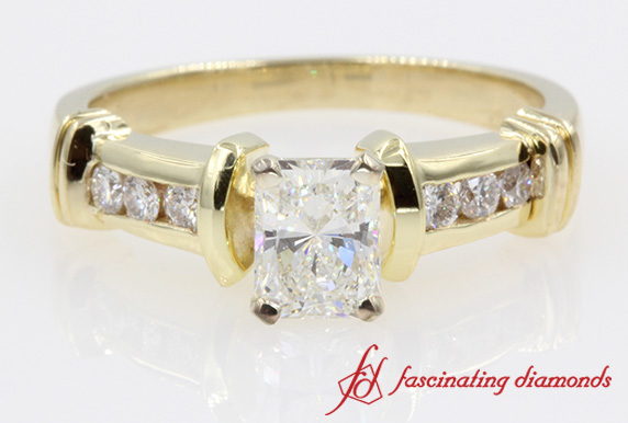 Yellow Gold Channel Set Wedding Ring For Her