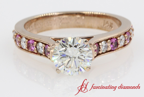 Pink Sapphire Accent Ring
