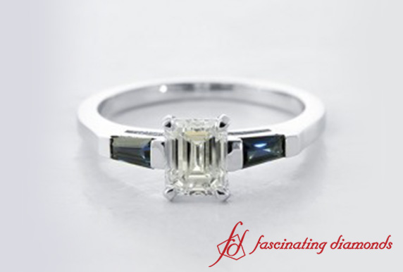 Emerald Cut 3 Stone Ring